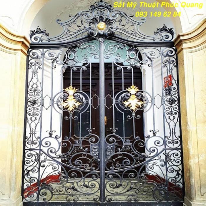 Cổng sắt mỹ nghệ đẹp - Trường tồn với thời gian2