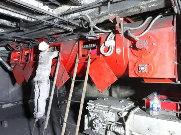 Sửa chữa máy cấp than, cân băng tải định lượng than nhà máy nhiệt điện.2