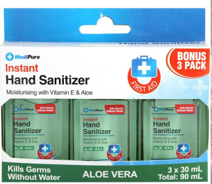 Gel rửa tay khô Instant Hand Sanitizer Medipure - Aloe vera -SH620