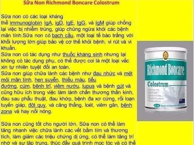 Sữa non RICHMOND BONCARE3