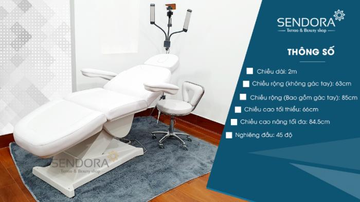 Giường ghế thẩm mỹ chỉnh điện B040 – Màu trắng2