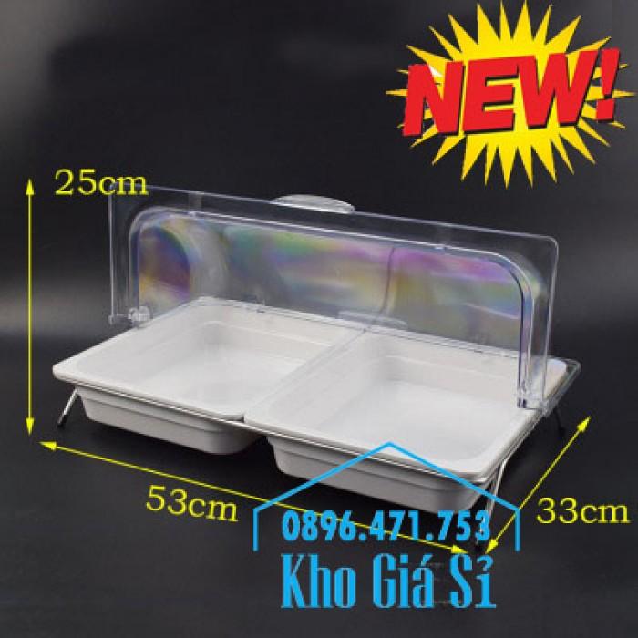 Nắp khay buffet hình chữ nhật mở 180 độ - Nắp nhựa mica đậy khay 1/1 - Nắp nhựa trong suốt đậy khay 1/2 giá tốt tại HCM3