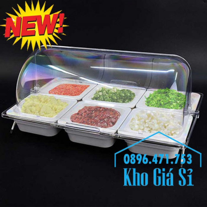 Nắp khay buffet hình chữ nhật mở 180 độ - Nắp nhựa mica đậy khay 1/1 - Nắp nhựa trong suốt đậy khay 1/2 giá tốt tại HCM4