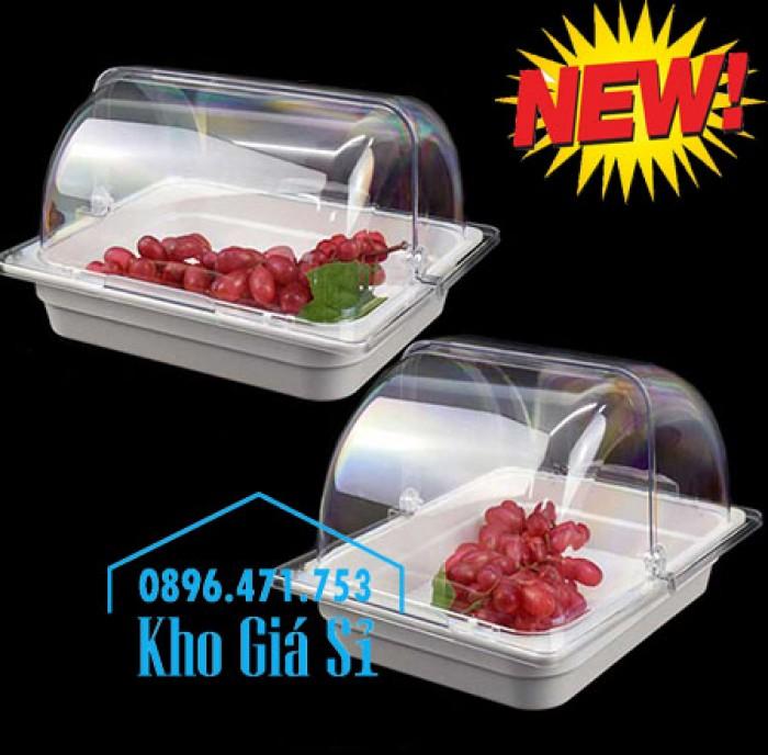 Nắp khay buffet hình chữ nhật mở 180 độ - Nắp nhựa mica đậy khay 1/1 - Nắp nhựa trong suốt đậy khay 1/2 giá tốt tại HCM