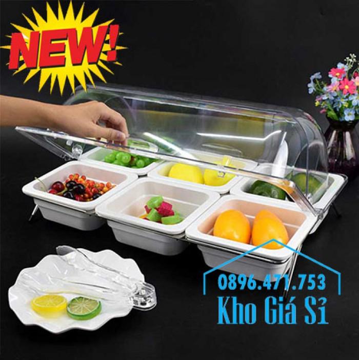 Nắp khay buffet hình chữ nhật mở 180 độ - Nắp nhựa mica đậy khay 1/1 - Nắp nhựa trong suốt đậy khay 1/2 giá tốt tại HCM12