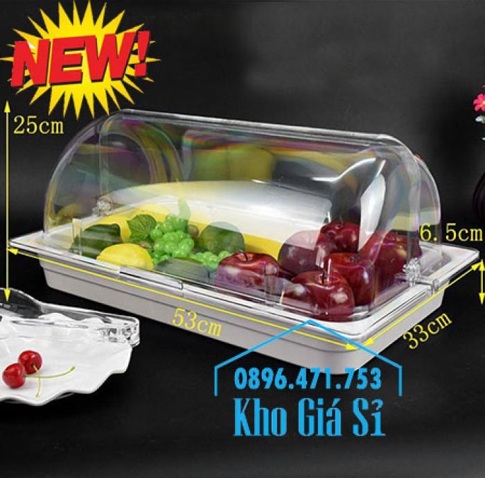 Nắp khay buffet hình chữ nhật mở 180 độ - Nắp nhựa mica đậy khay 1/1 - Nắp nhựa trong suốt đậy khay 1/2 giá tốt tại HCM8