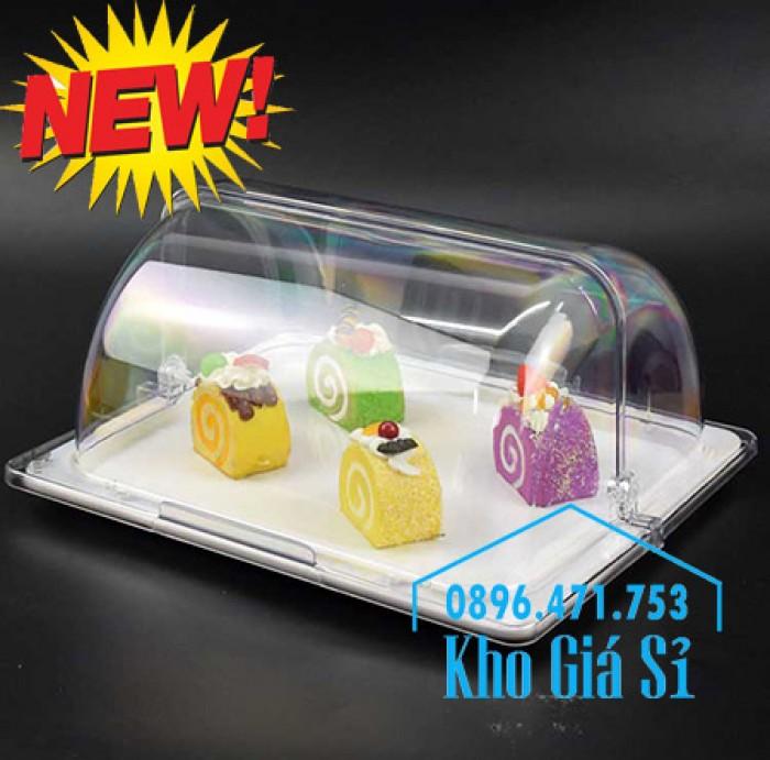Nắp khay buffet hình chữ nhật mở 180 độ - Nắp nhựa mica đậy khay 1/1 - Nắp nhựa trong suốt đậy khay 1/2 giá tốt tại HCM11
