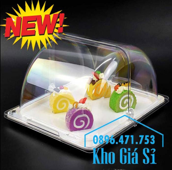 Nắp khay buffet hình chữ nhật mở 180 độ - Nắp nhựa mica đậy khay 1/1 - Nắp nhựa trong suốt đậy khay 1/2 giá tốt tại HCM15