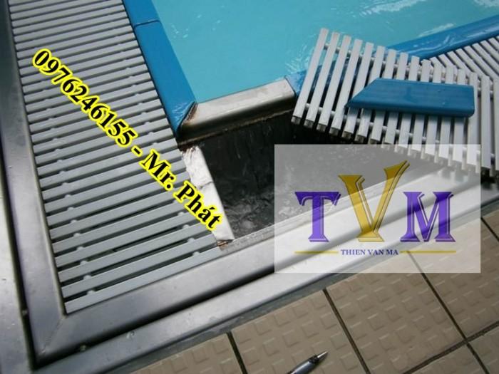 Vỉ nhựa chống tràn, xả tràn hồ bơi9