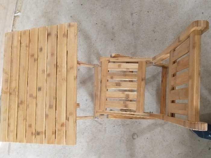 Bàn ghế cafe bằng tre0