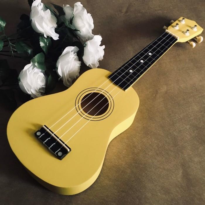 Đàn Ukulele gỗ màu vàng | Size soprano 21' chính hãng.1