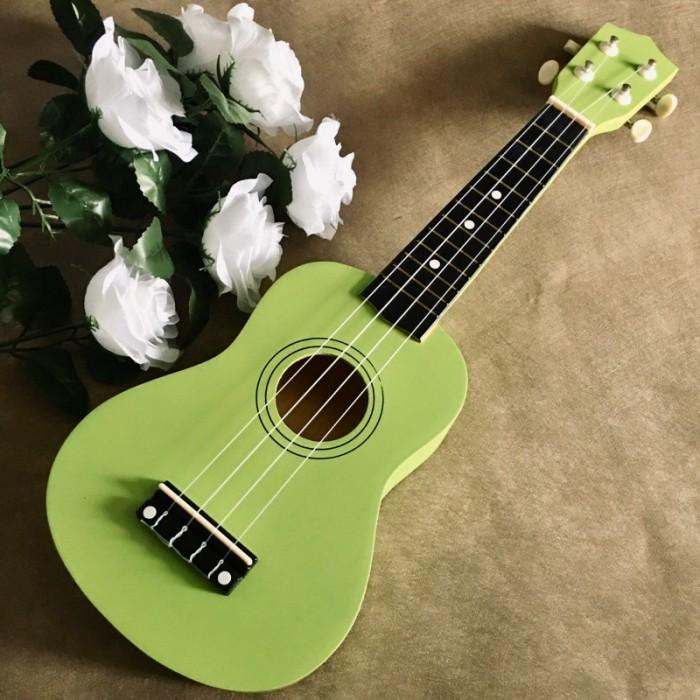 Đàn Ukulele gỗ màu xanh lá | Size soprano 21' chính hãng1