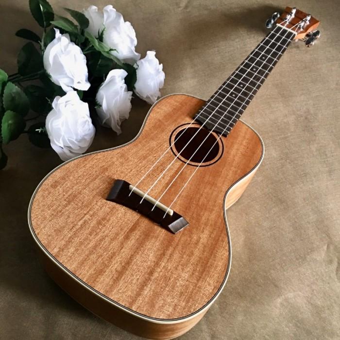 Đàn Ukulele gỗ nguyên tấm chất lượng | Size concert 23' chính hãng.0