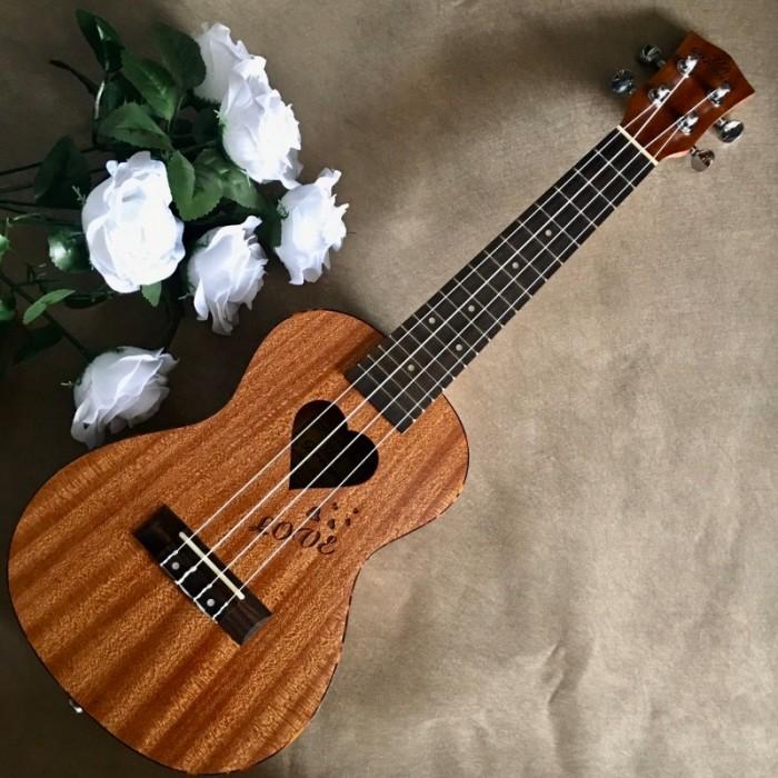 #Infor: • Size: Concert 23' (58 cm). • Chất liệu:  + Lưng và hông: gỗ Sapele. + Mặt đàn:gỗ Sapele. • Đánh giá âm thanh: Tốt. • Thích hợp dùng tập chơi và cả dùng chơi lâu dài. • Bảo hành: 2 năm0