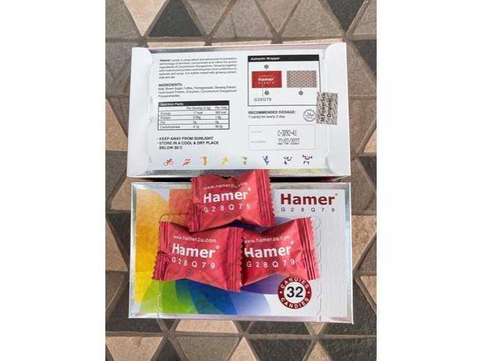 1 hộp kẹo hamer 2020 32 viên1