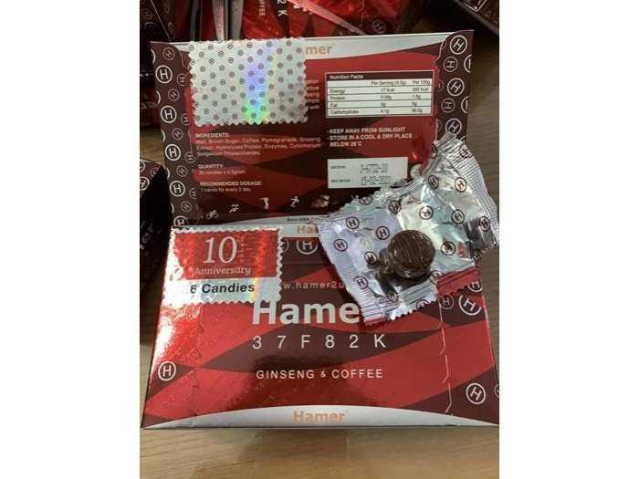 sỉ 10 hộp kẹo hamer giá 950k1