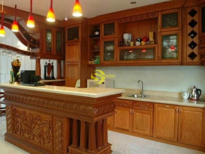 Mẫu tủ bếp chất lượng gỗ tốt 0
