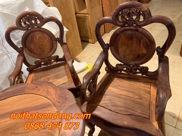 Bộ bàn ghế guột nho 7 món gỗ cẩm lai xịn 100%0