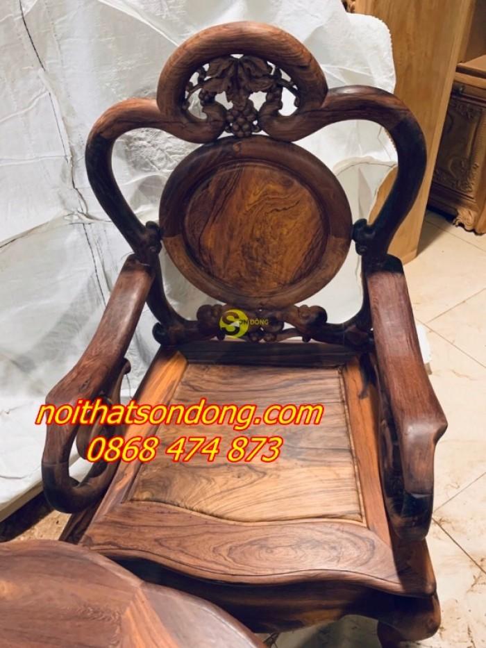 Bộ bàn ghế guột nho 7 món gỗ cẩm lai xịn 100%4