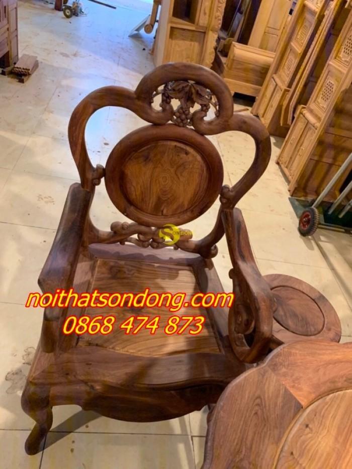 Bộ bàn ghế guột nho 7 món gỗ cẩm lai xịn 100%5