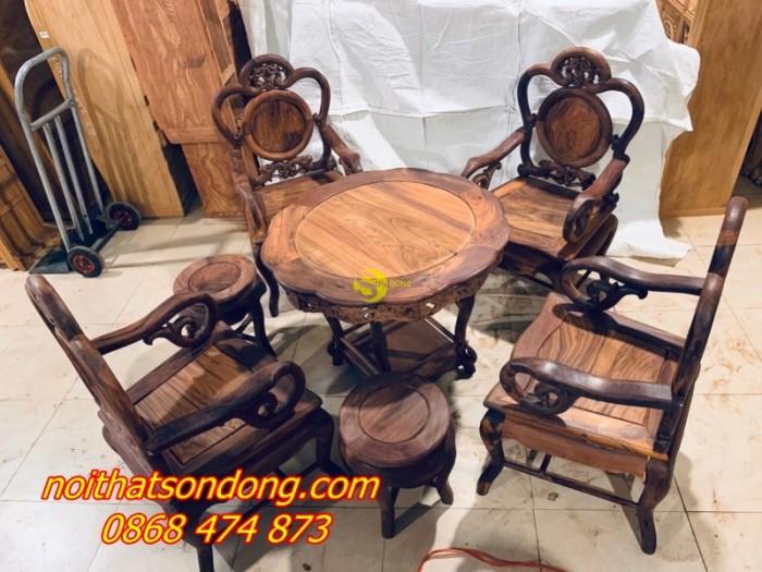 Bộ bàn ghế guột nho 7 món gỗ cẩm lai xịn 100%2