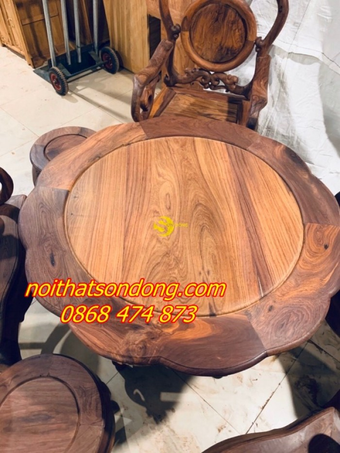 Bộ bàn ghế guột nho 7 món gỗ cẩm lai xịn 100%7