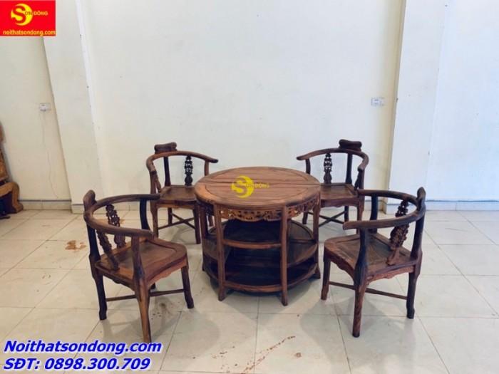 Bộ bàn ván nguyệt gỗ cẩm lai xịn 100%2