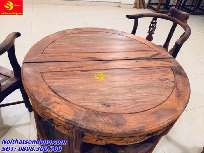 Bộ bàn ván nguyệt gỗ cẩm lai xịn 100%1