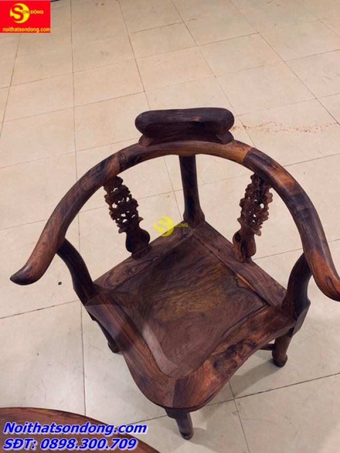 Bộ bàn ván nguyệt gỗ cẩm lai xịn 100%4
