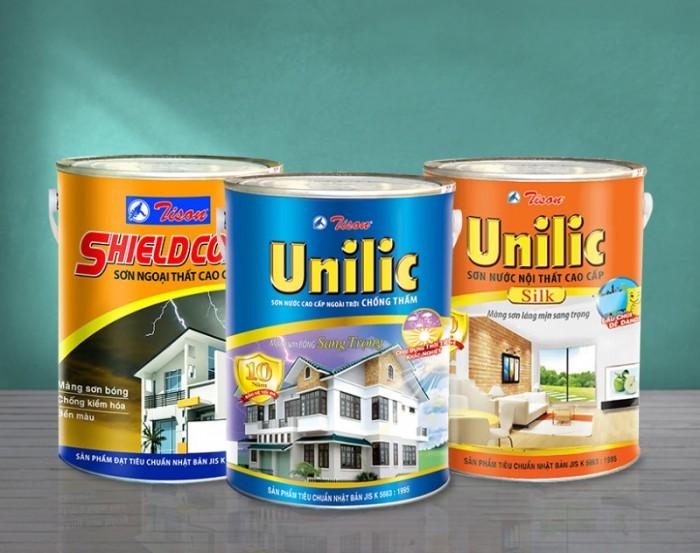Đại lý bán sơn nước ngoại thất cao cấp Tison Unilic lon 5 lít giá rẻ tại TPHCM0