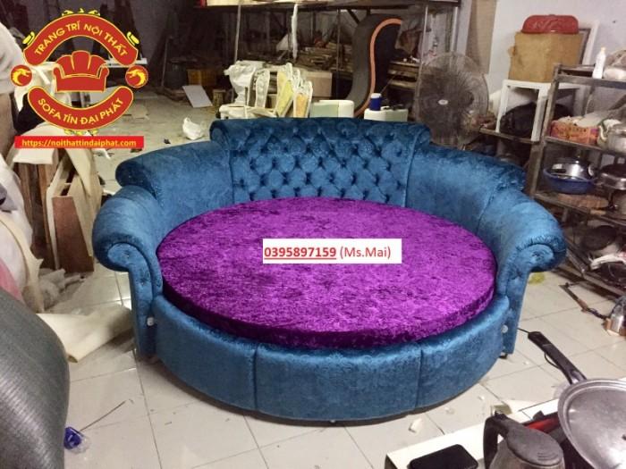 Giường tròn giá rẻ, giường ngủ phong cách Luxury0
