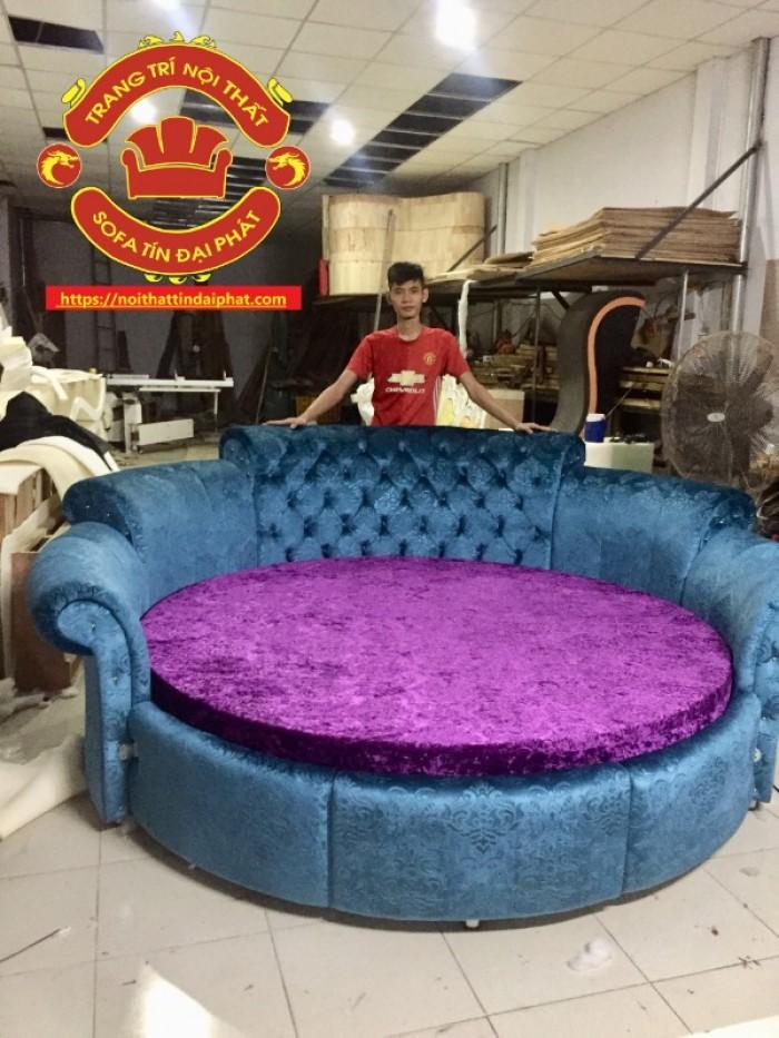 Giường tròn giá rẻ, giường ngủ phong cách Luxury1