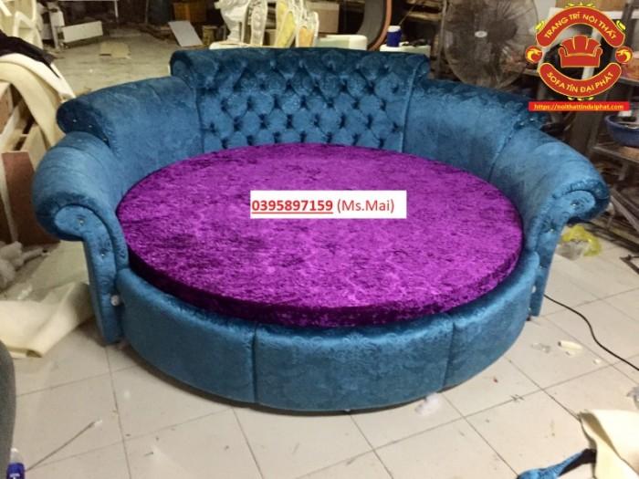 Giường tròn giá rẻ, giường ngủ phong cách Luxury3