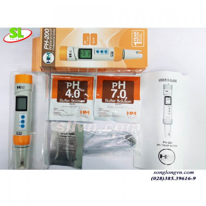 Bút Đo pH - 200 trong Nước Chính Hãng HM Digital - USA1