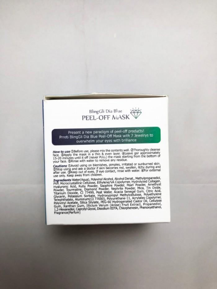 Mặt nạ lột dưỡng da Kim Cương Bling Gli Peel Off Mask Prreti4