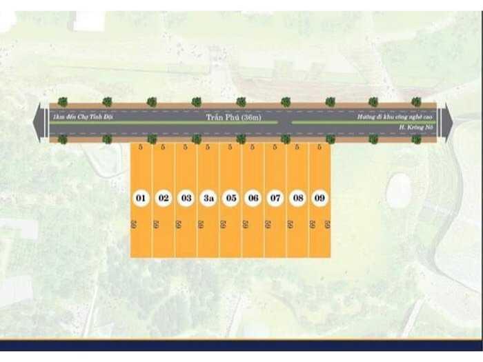 cần bán lô đất 5x59  mặt đường trần phú gần trại giam0
