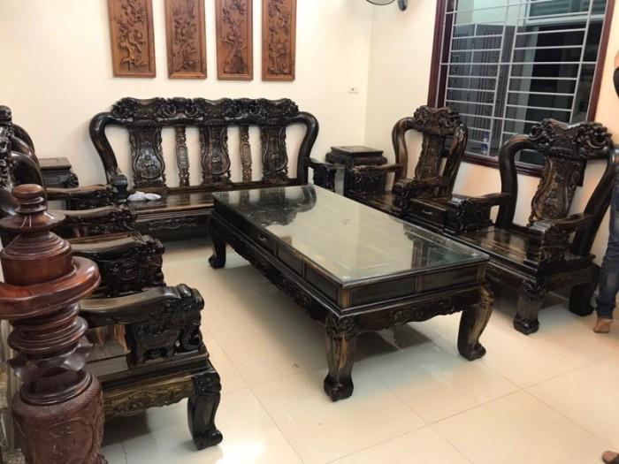 Bộ Minh Quốc Voi Tay 12 gỗ Mun Lào.!3