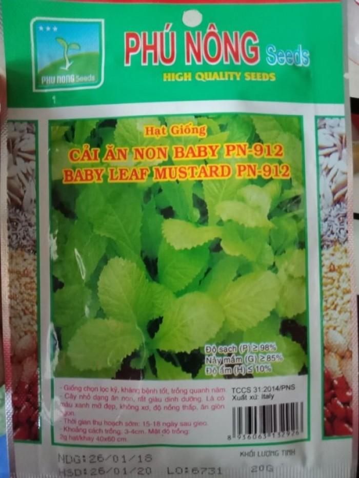 Hạt giống cải xanh ăn non Phú Nông1