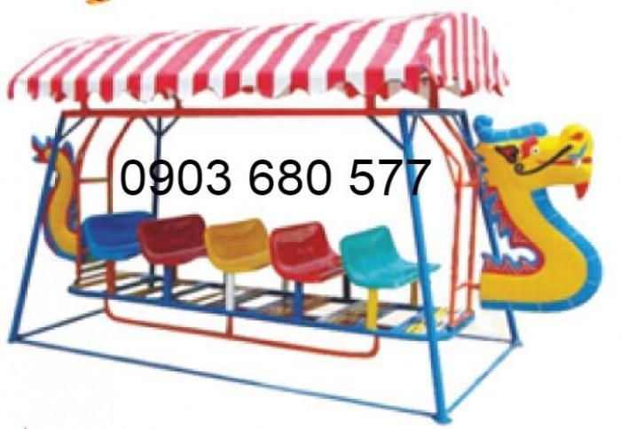 Xích đu thuyền rồng 3 ghế - 9 chỗ, 5 ghế - 15 chỗ dành cho trẻ nhỏ mầm non0
