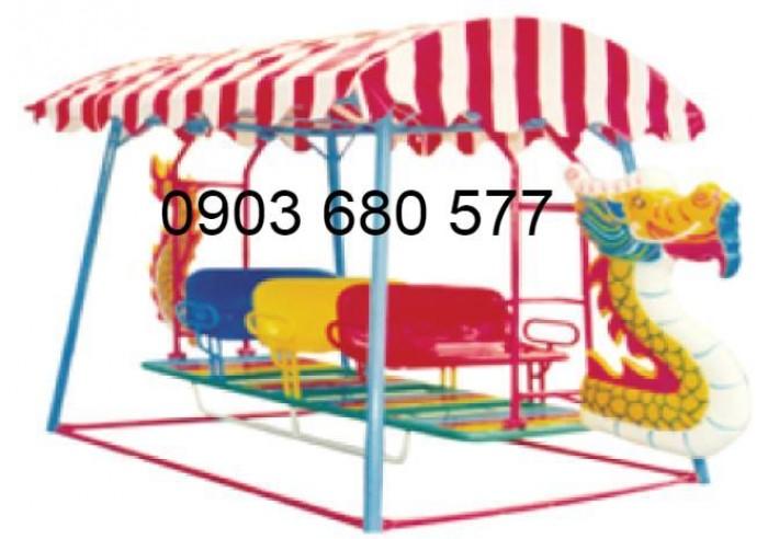 Xích đu thuyền rồng 3 ghế - 9 chỗ, 5 ghế - 15 chỗ dành cho trẻ nhỏ mầm non1