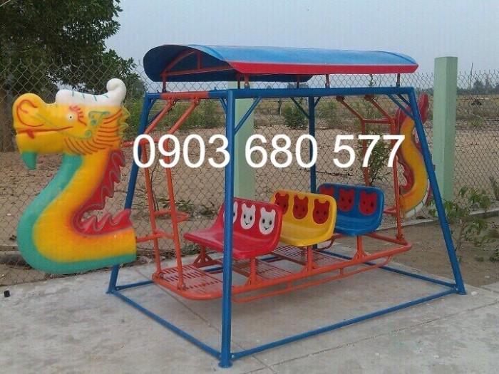 Xích đu thuyền rồng 3 ghế - 9 chỗ, 5 ghế - 15 chỗ dành cho trẻ nhỏ mầm non3