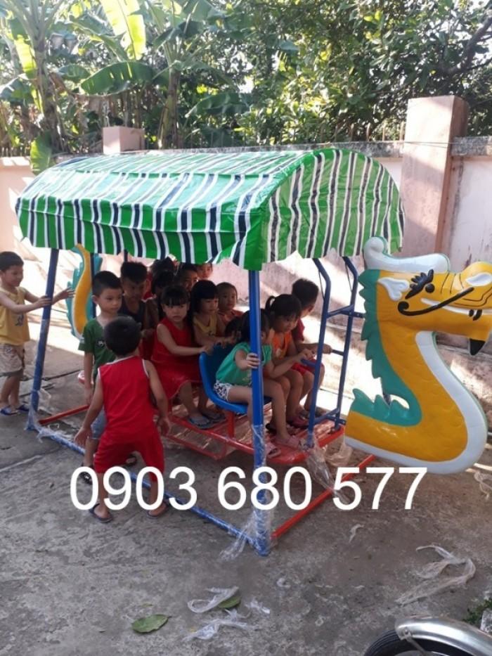 Xích đu thuyền rồng 3 ghế - 9 chỗ, 5 ghế - 15 chỗ dành cho trẻ nhỏ mầm non6
