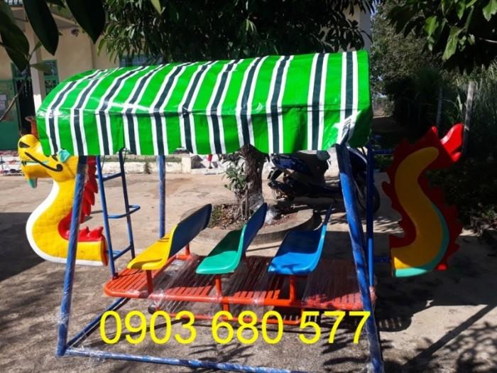 Xích đu thuyền rồng 3 ghế - 9 chỗ, 5 ghế - 15 chỗ dành cho trẻ nhỏ mầm non4