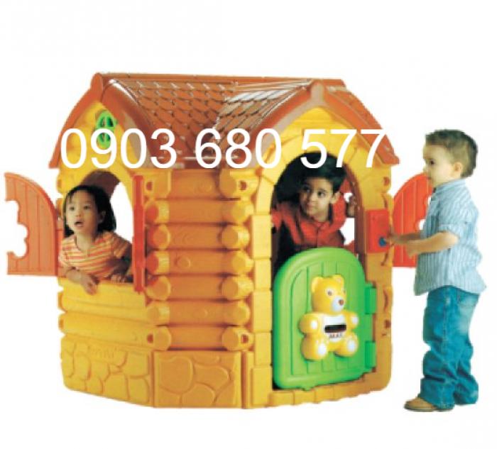 Nhà chơi dạng cổ tích trẻ em cho trường mầm non, sân chơi, công viên1