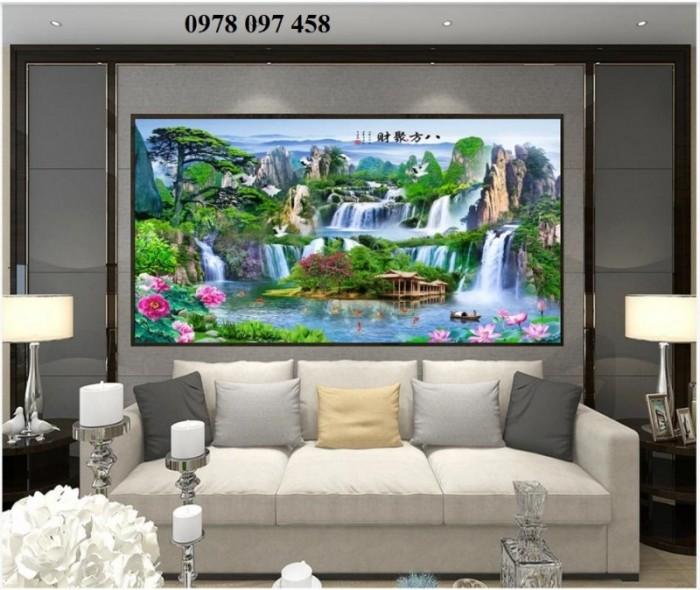 Tranh gạch 3D tôn vẻ đẹp phòng khách - phòng làm việc2