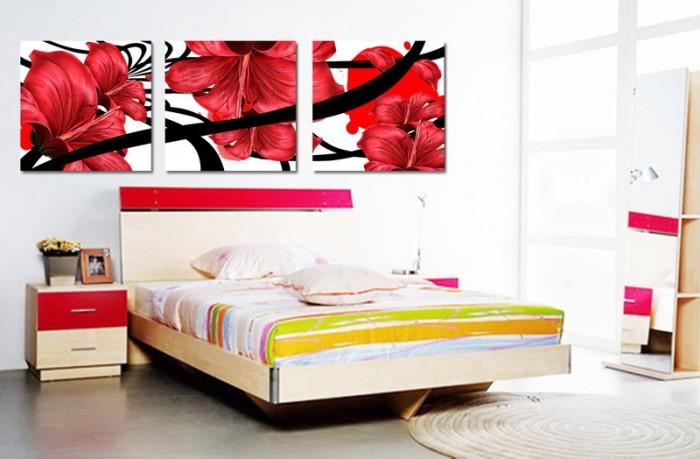 Phòng ngủ - tranh 3D trang trí thêm đẹp0