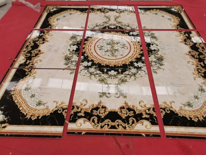 Thảm gạch - gạch tranh hoa văn đẹp0