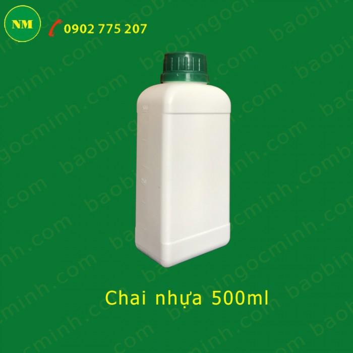 chai nhựa 500ml vuông đựng phân bón 3