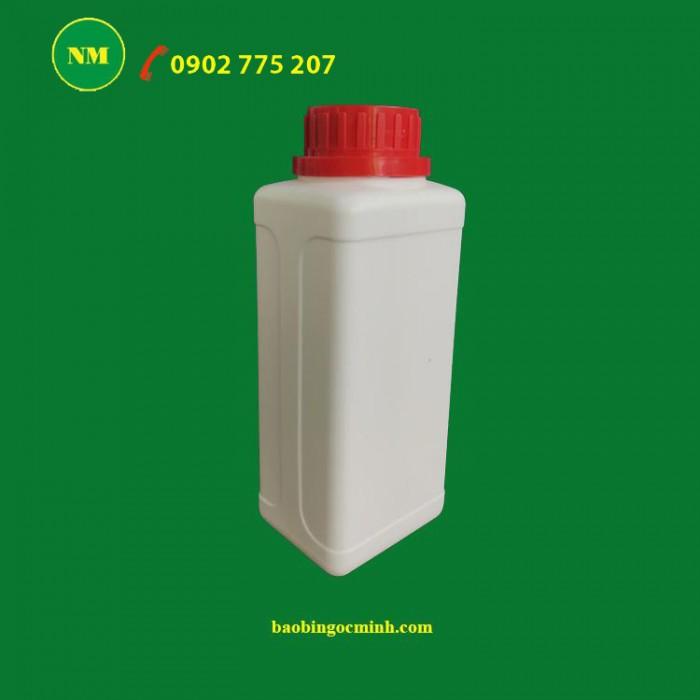 Chai nhựa vuông 250ml 3