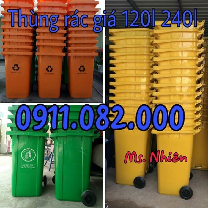 Thanh lý thùng rác 120 lít 240 lít giá rẻ tại hậu giang- lh 0911.082.0000